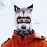 Raccoon facemask with ears
