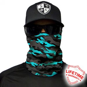 Aqua Military Blackout Camo maska