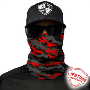 Fire Red Military Blackout Camo maska