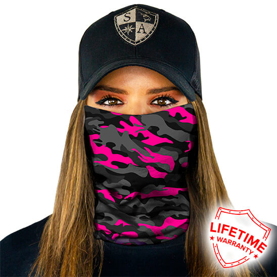 Magenta Military Blackout Camo maska