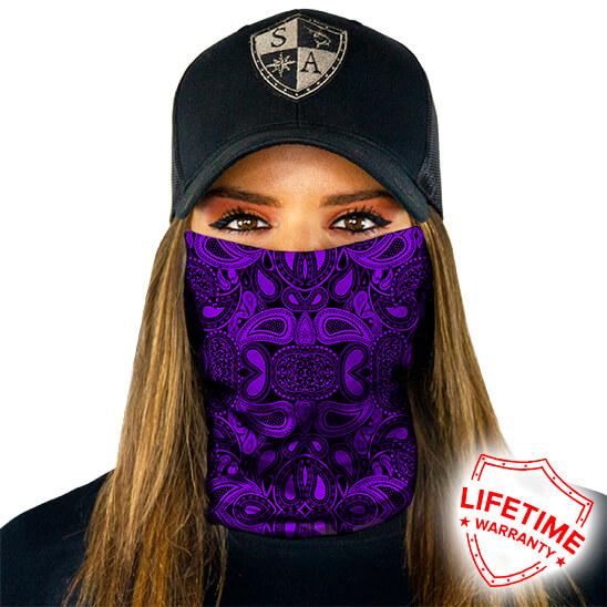 SA Purple Paisley maska